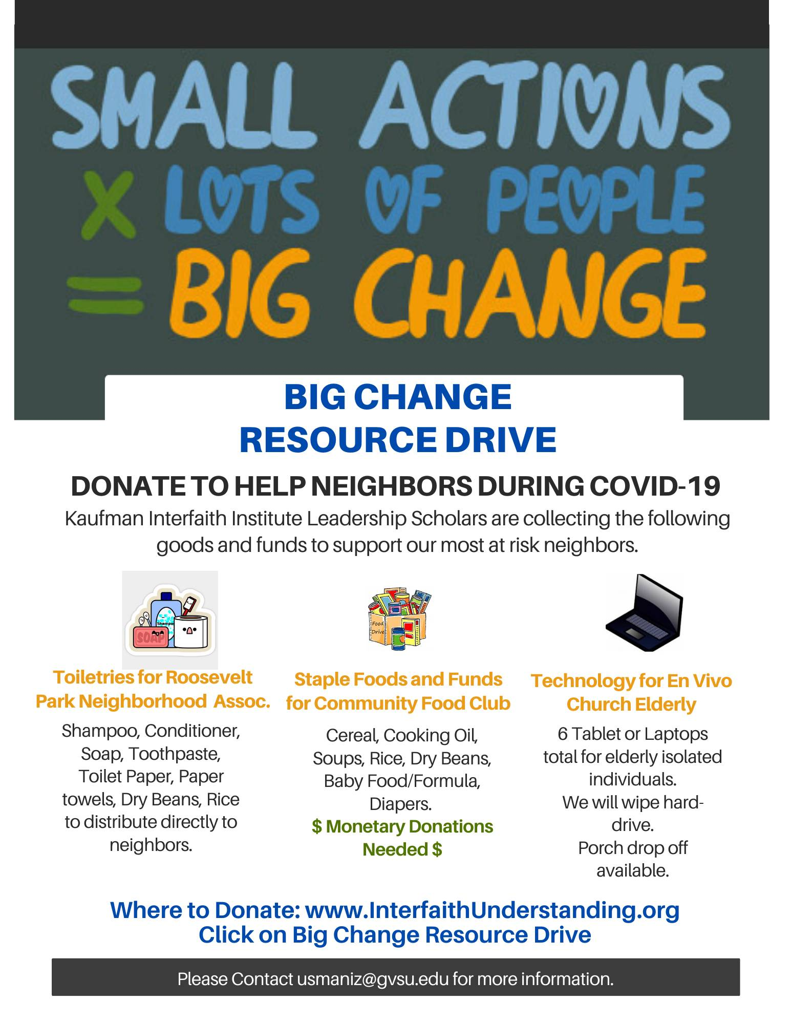 Info on the Big Change Resource Drive - Click for more